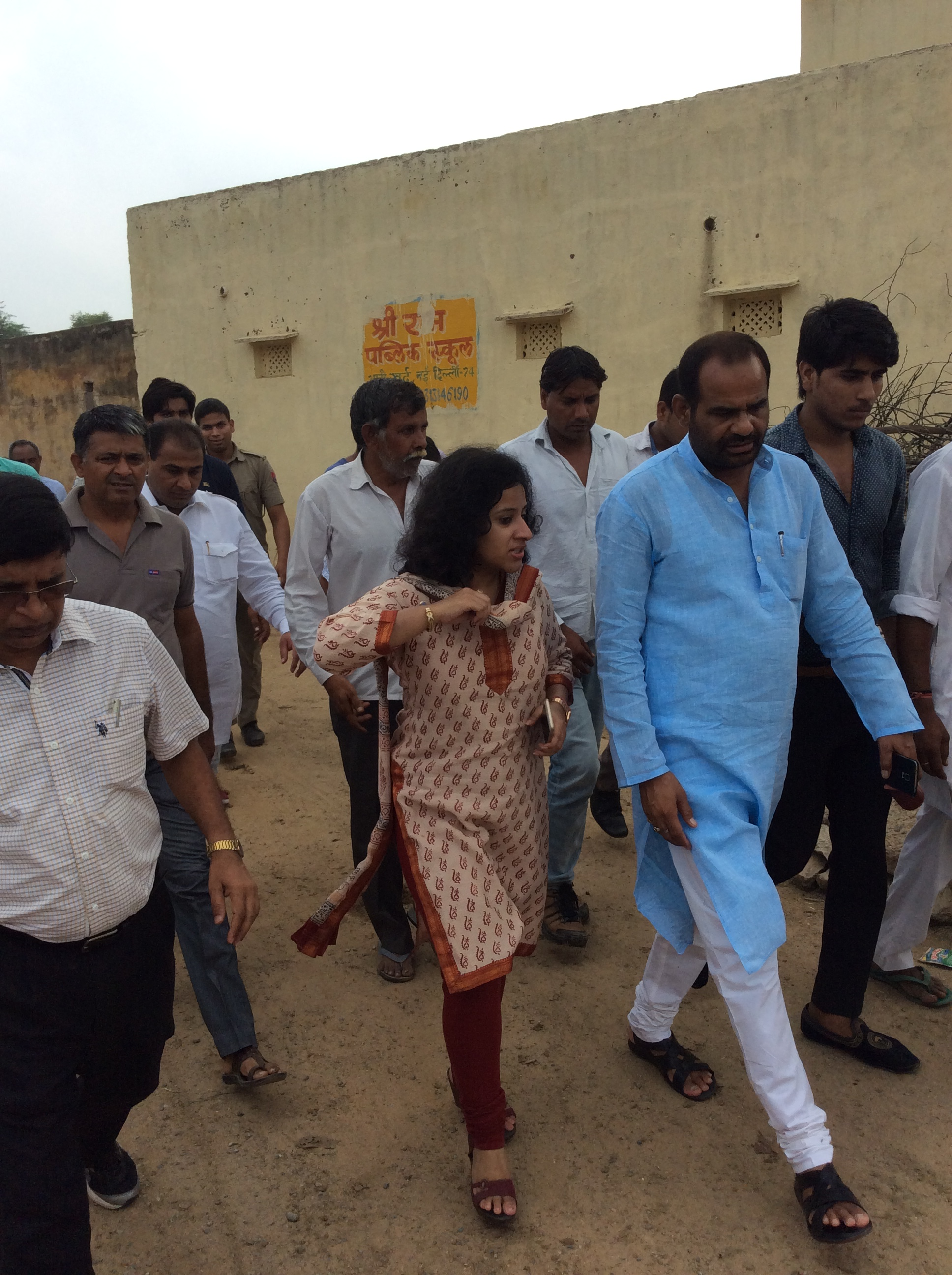 14.Nov.14 || Inspection of Bhati Village with Chief Sec