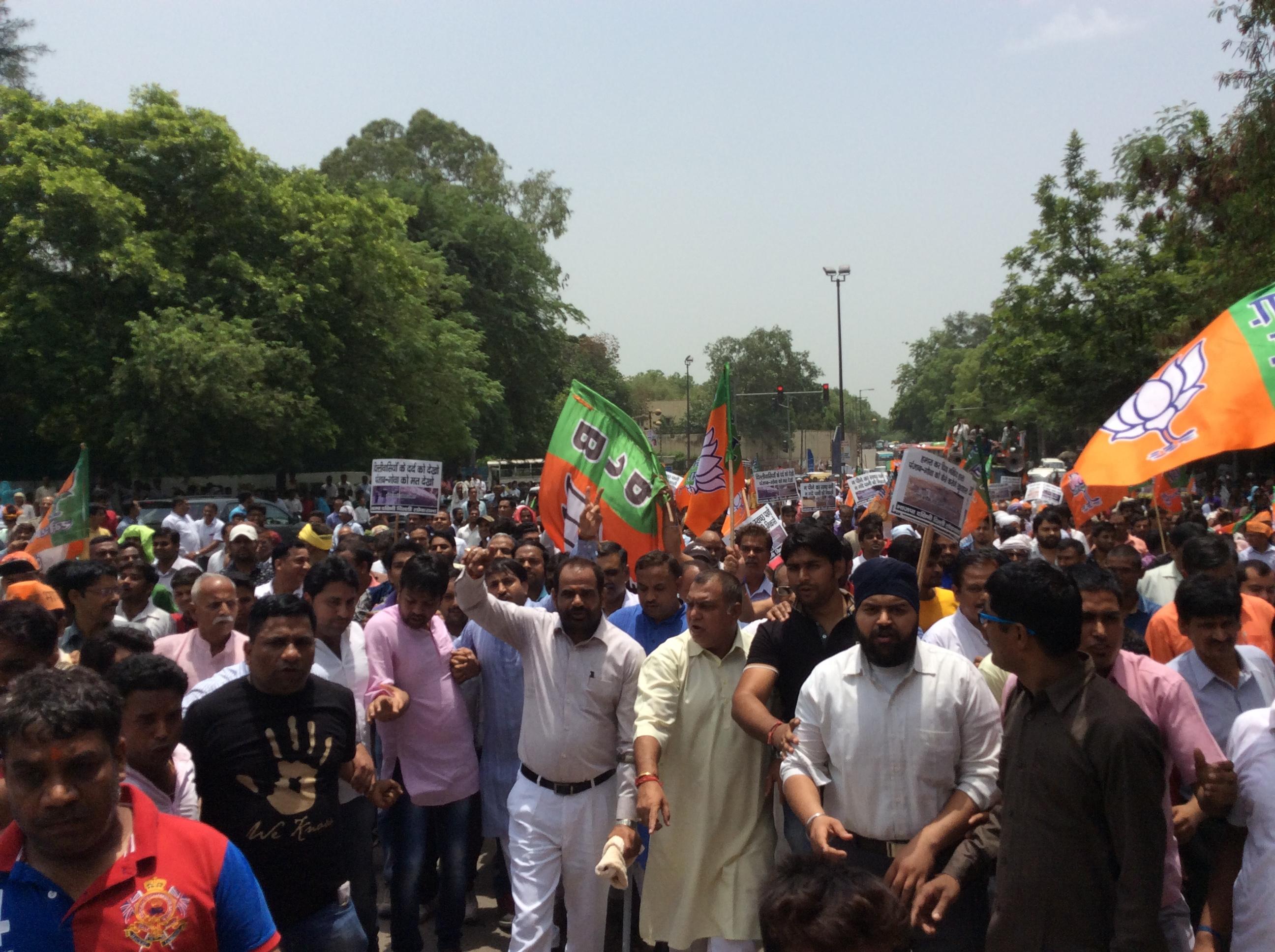 31.05.2016 Protest Regularization of Unauthorized Colonies in Delhi