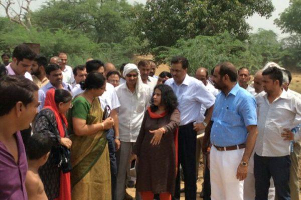 Ramesh Bidhuri sansad adarsh goan visit bhati goan