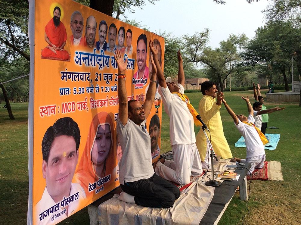 21.06.2016 Celebration of YOGA DIWAS In South Delhi Parliamentary Constituency