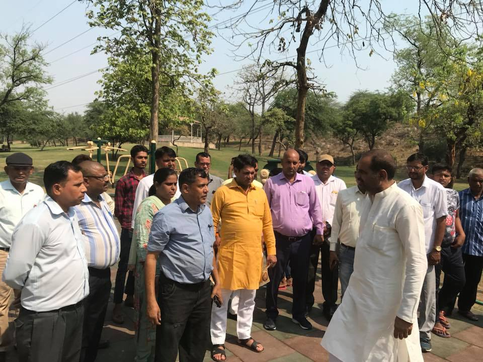 10.05.2018 | Inauguration of Roads Tughlabad Village & Open Gym at Lal Kuan